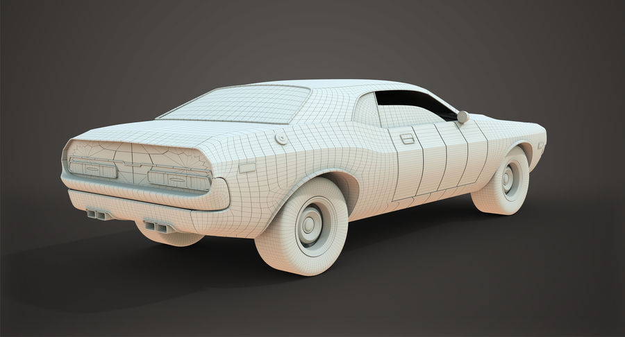 Dodge Challenger royalty-free 3d model - Preview no. 13
