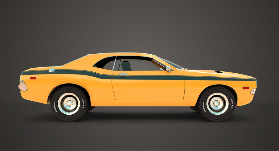 Dodge Challenger royalty-free 3d model - Preview no. 4