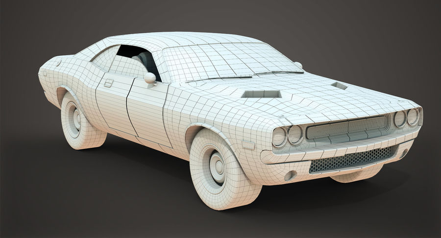 Dodge Challenger royalty-free 3d model - Preview no. 9