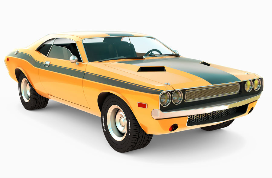 Dodge Challenger royalty-free 3d model - Preview no. 1