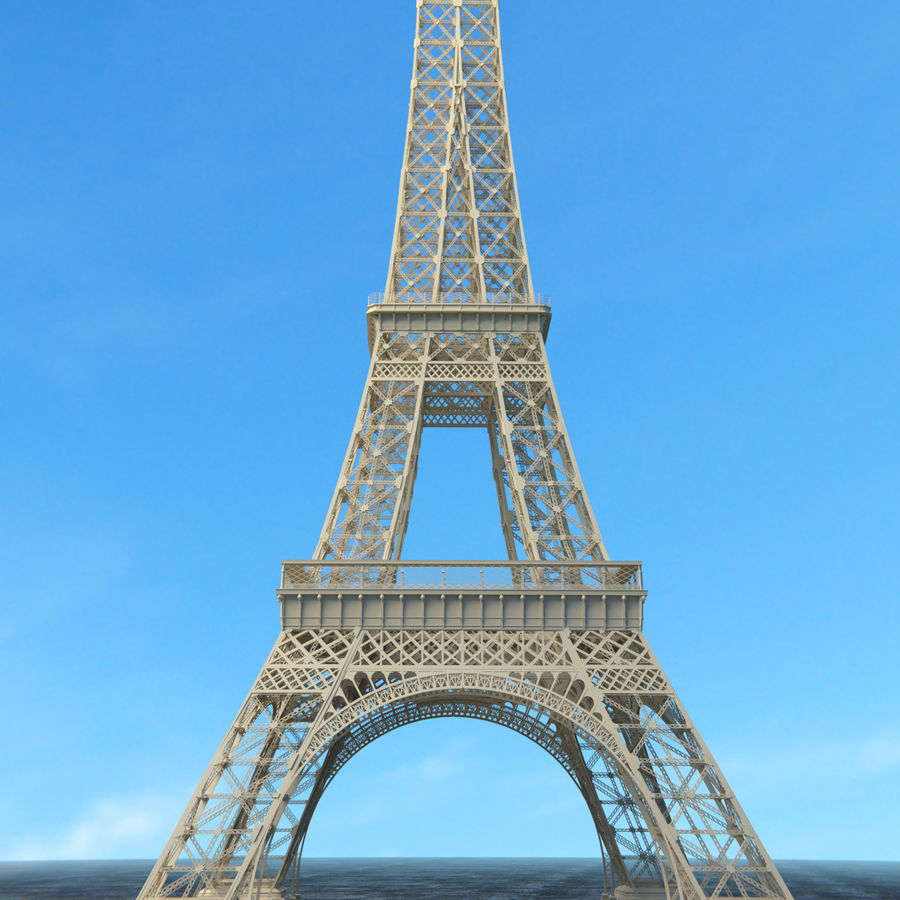 Torre Eiffel royalty-free 3d model - Preview no. 2