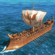 Grekiska skeppet 3d model
