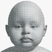 Baby Low Res with UVs Unwrapped 3d model