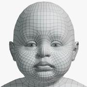 Baby Low Res avec UVs non emballé 3d model