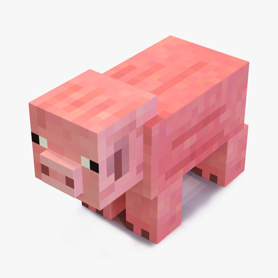 Minecraft Pig 3D Model royalty-free 3d model - Preview no. 1