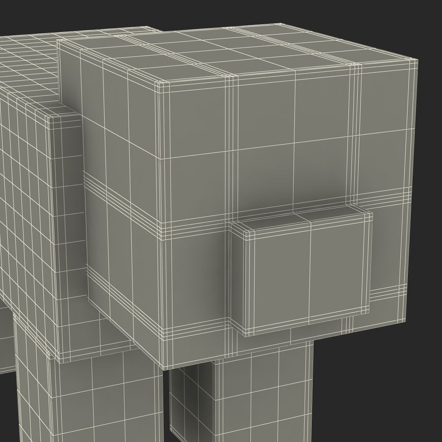 Minecraft Pig 3D-model royalty-free 3d model - Preview no. 17