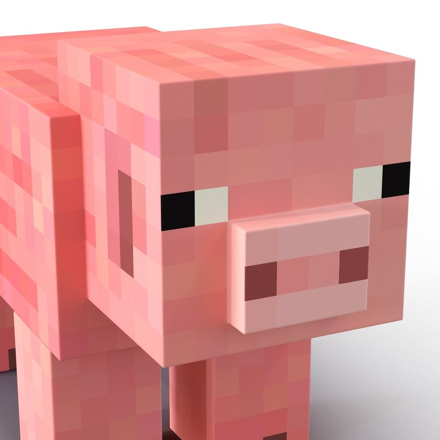 Minecraft 돼지 3D 모델 royalty-free 3d model - Preview no. 9