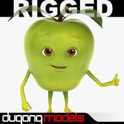 Cartoon Apple Rigged 3d model