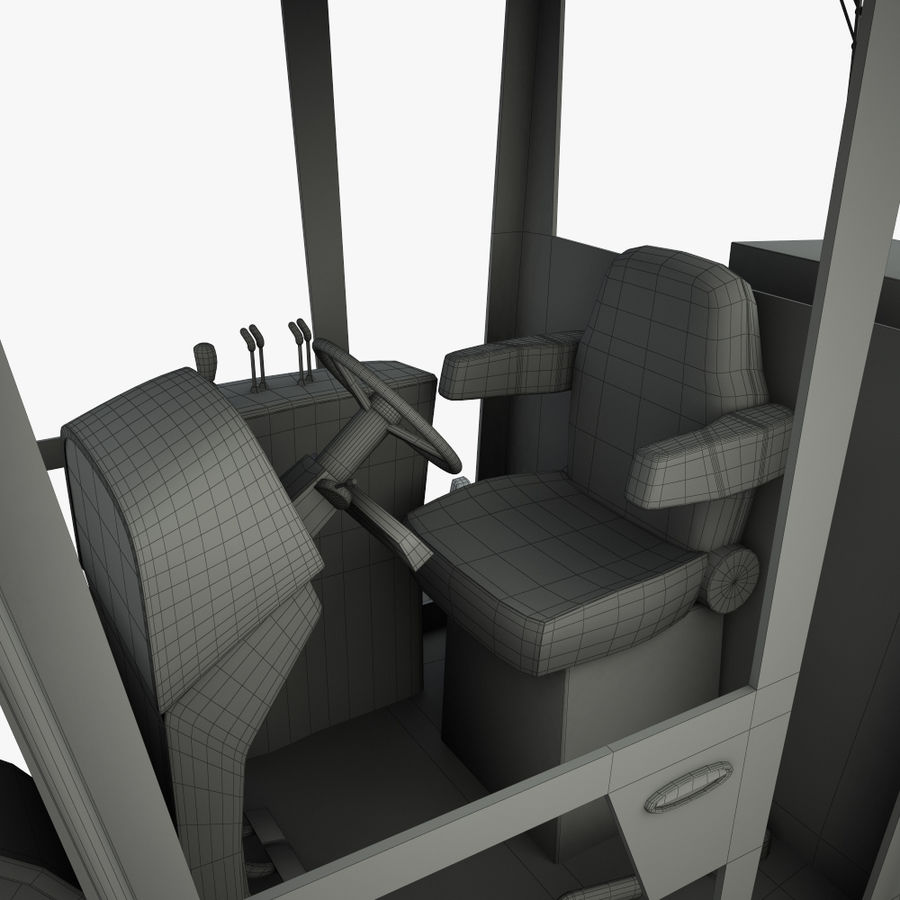 Motor Grader royalty-free 3d model - Preview no. 16