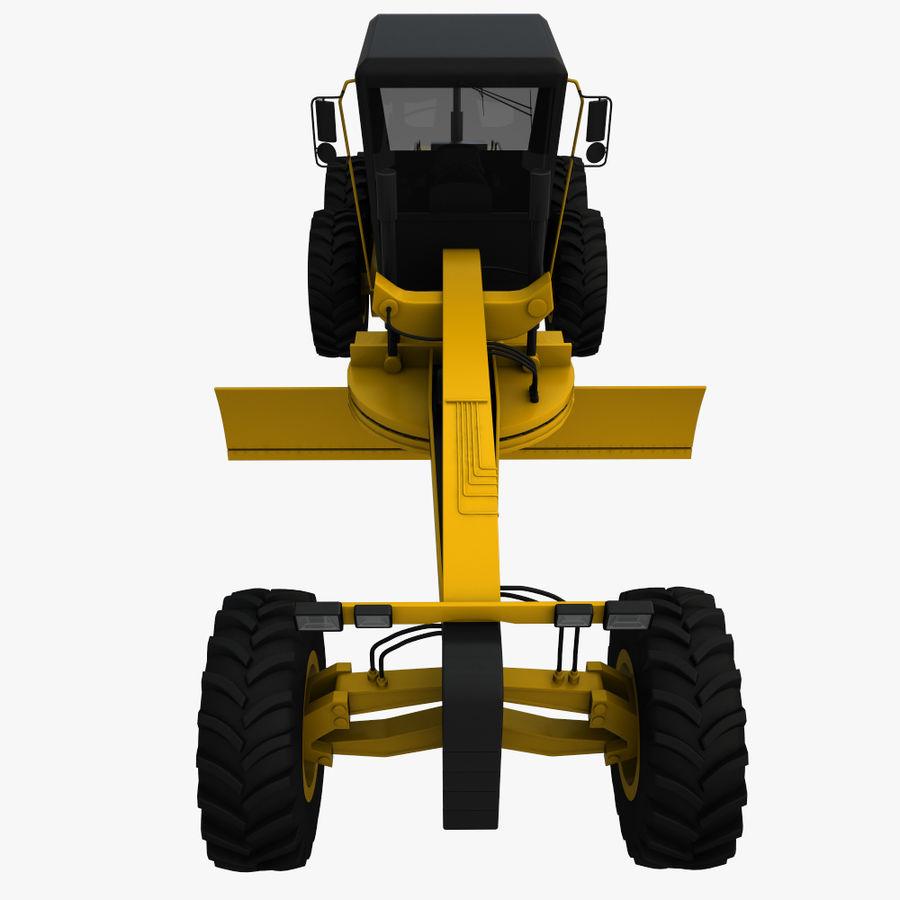 Motor Grader royalty-free 3d model - Preview no. 9