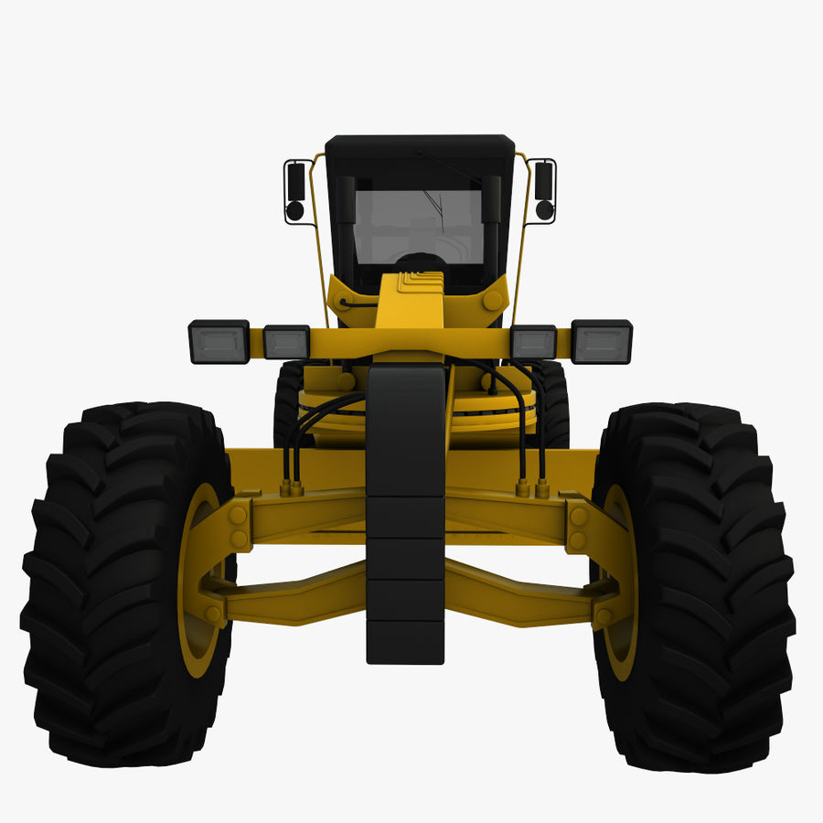 Motor Grader royalty-free 3d model - Preview no. 8
