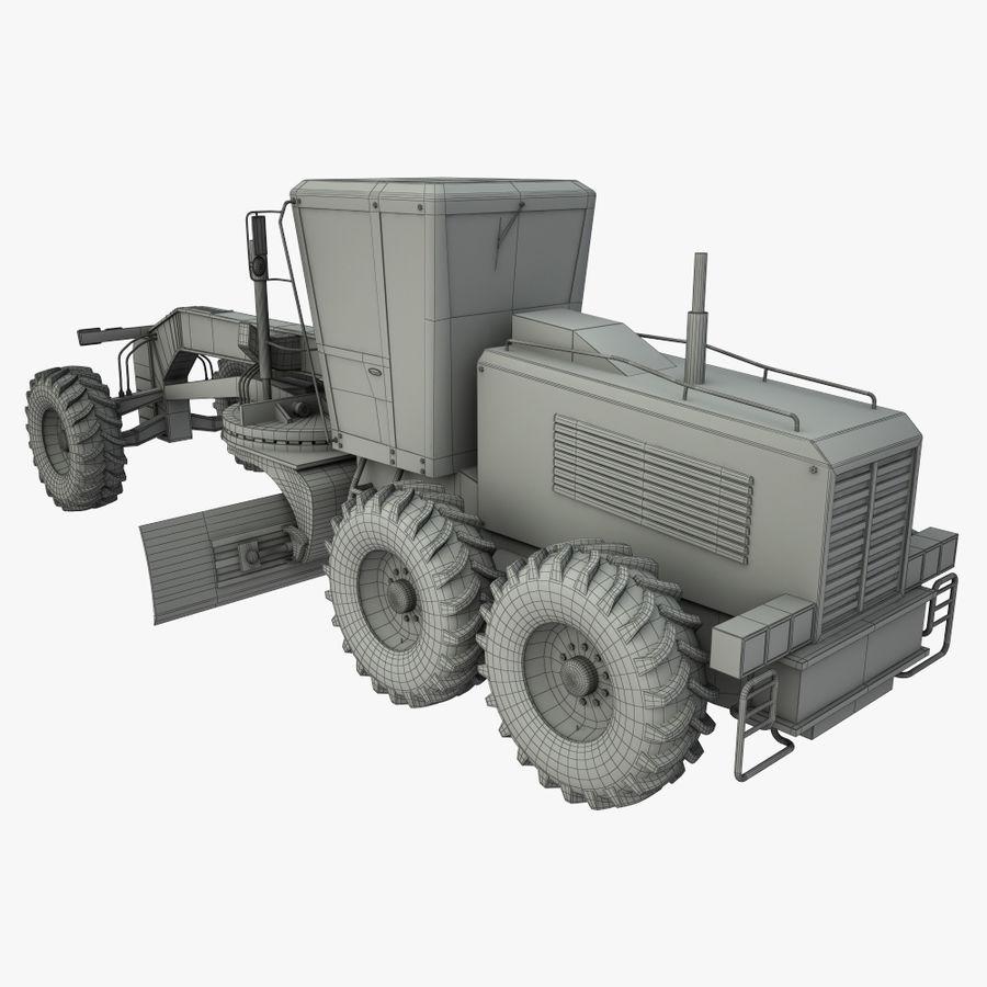 Motor Grader royalty-free 3d model - Preview no. 13