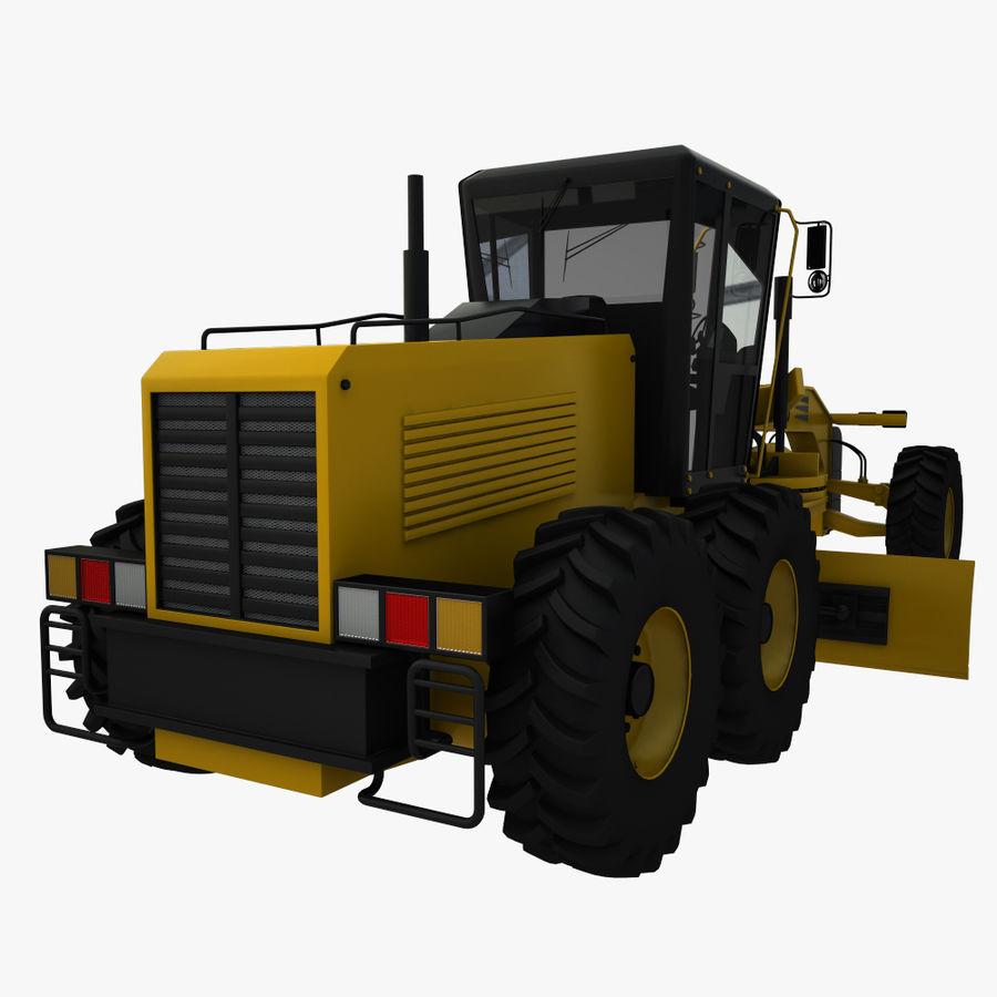 Motor Grader royalty-free 3d model - Preview no. 5
