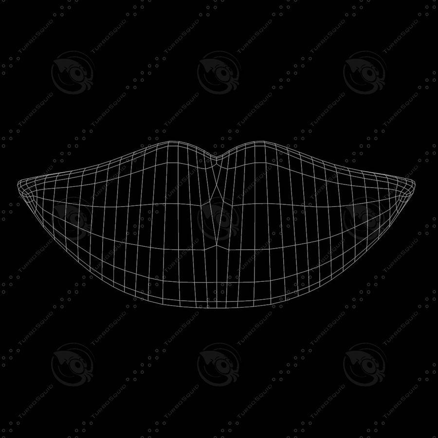 Lábios boca royalty-free 3d model - Preview no. 11