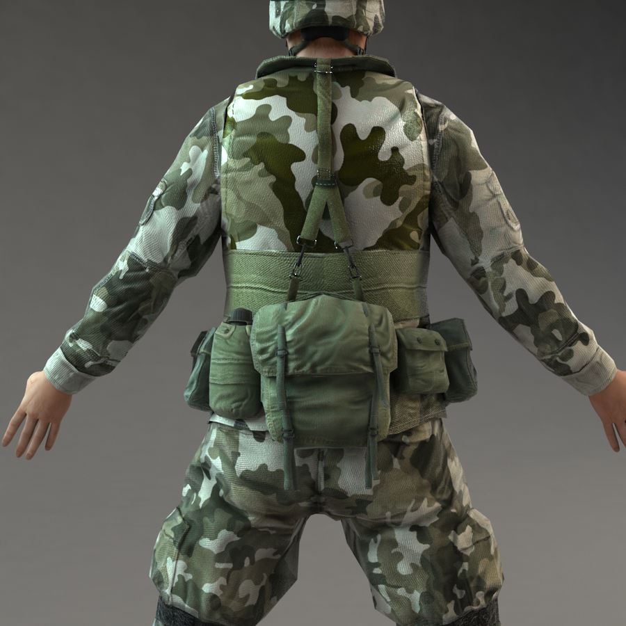 Soldier with Rifle royalty-free 3d model - Preview no. 11