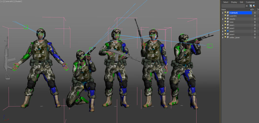 Soldier with Rifle royalty-free 3d model - Preview no. 18