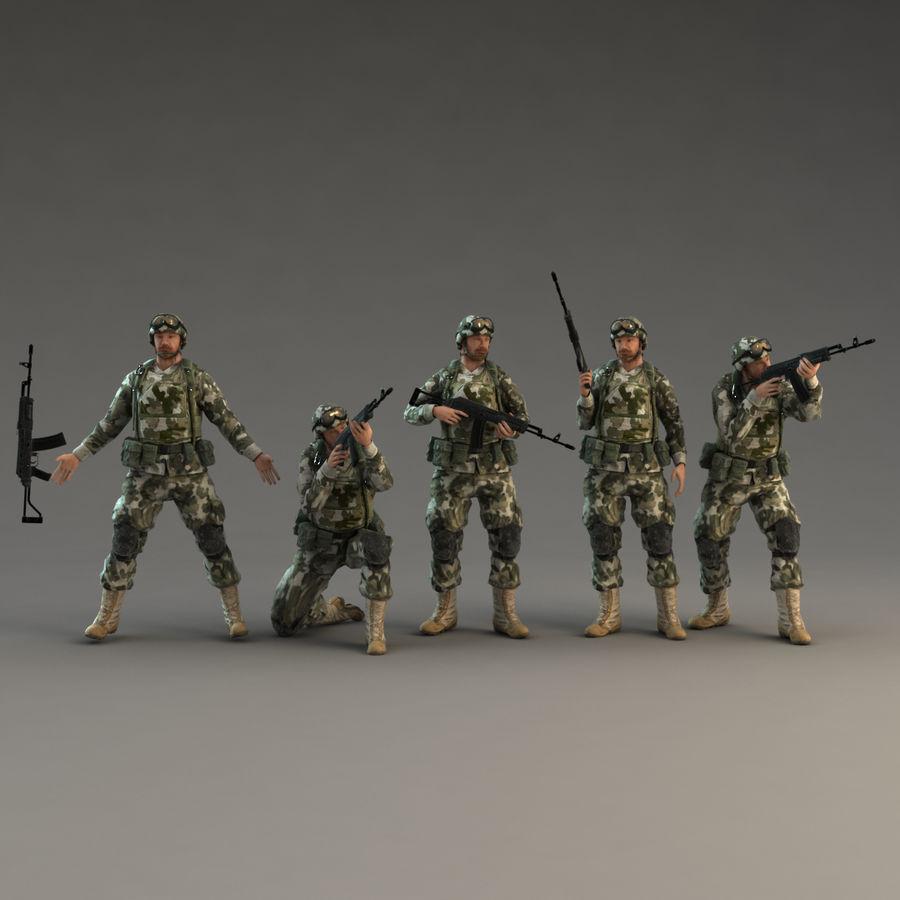 ライフルを持った兵士 royalty-free 3d model - Preview no. 2