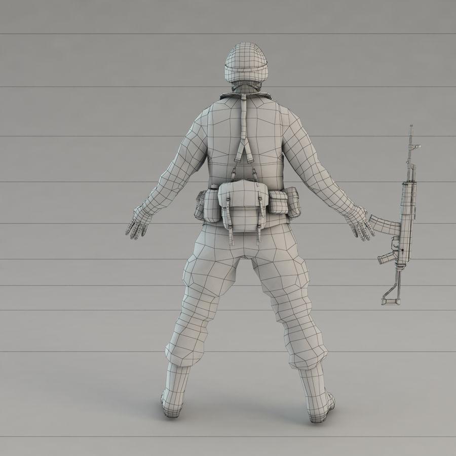 ライフルを持った兵士 royalty-free 3d model - Preview no. 13