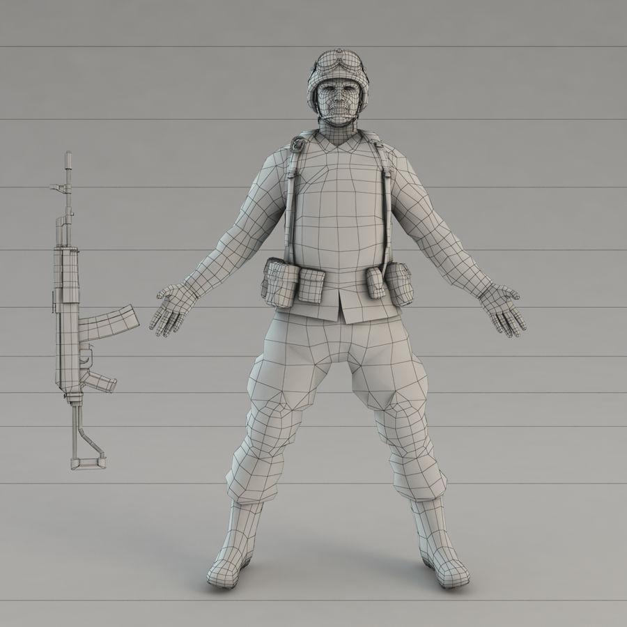 ライフルを持った兵士 royalty-free 3d model - Preview no. 12