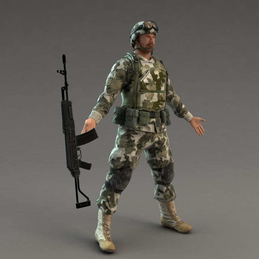ライフルを持った兵士 royalty-free 3d model - Preview no. 6