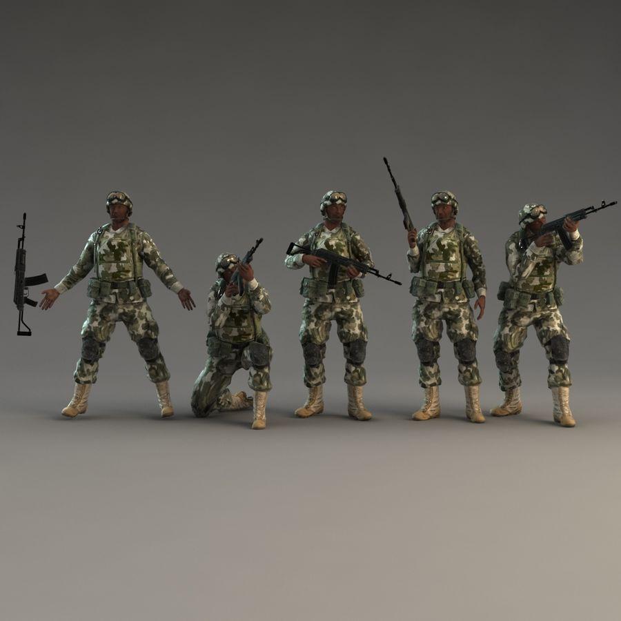 ライフルを持った兵士 royalty-free 3d model - Preview no. 3