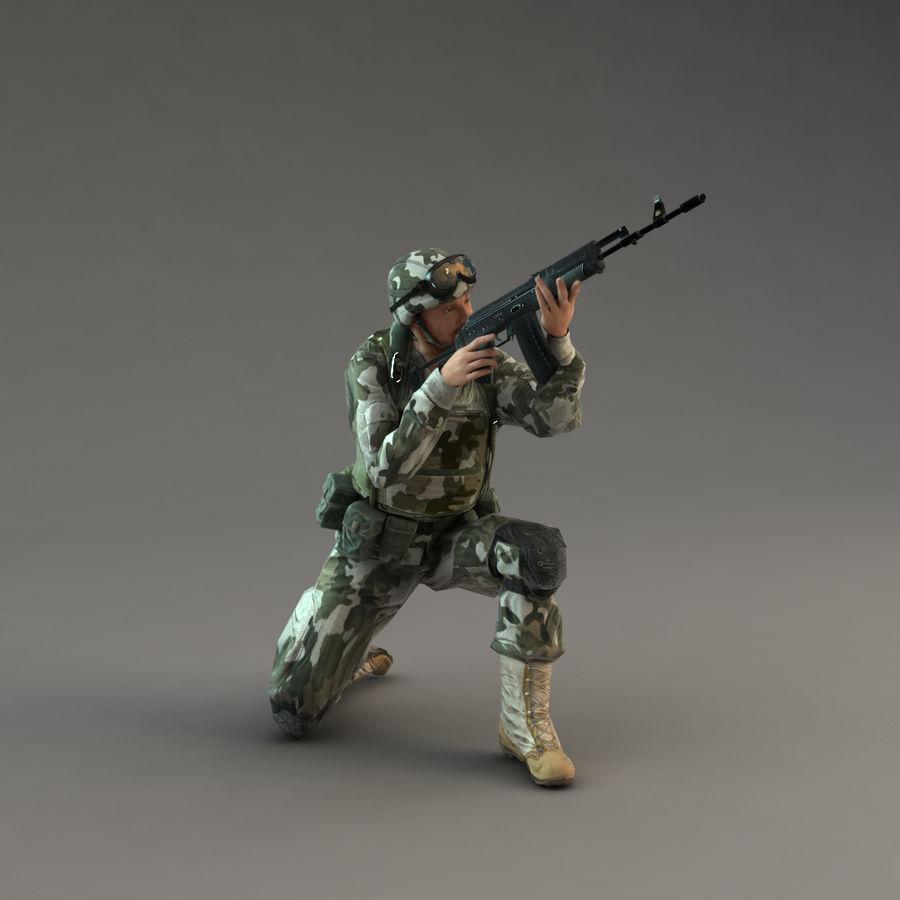 ライフルを持った兵士 royalty-free 3d model - Preview no. 16