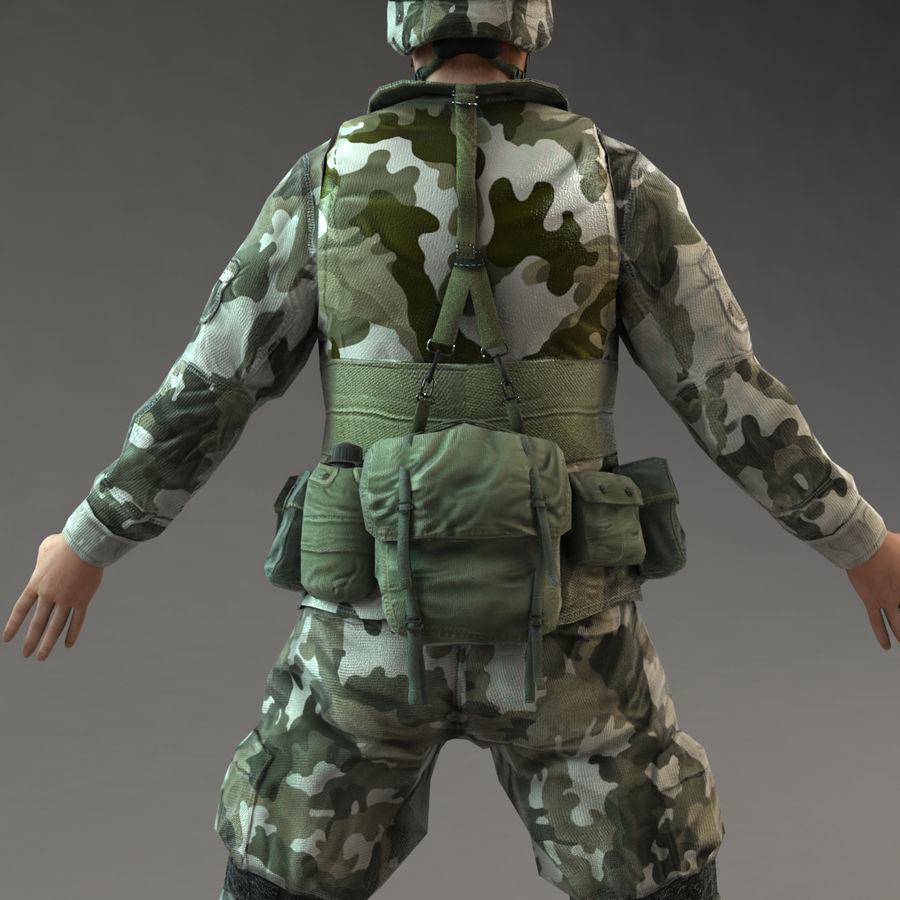 ライフルを持った兵士 royalty-free 3d model - Preview no. 11
