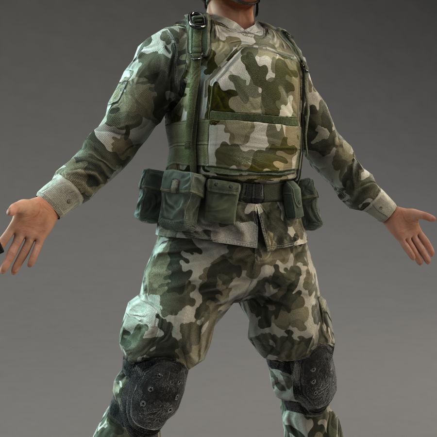 ライフルを持った兵士 royalty-free 3d model - Preview no. 10
