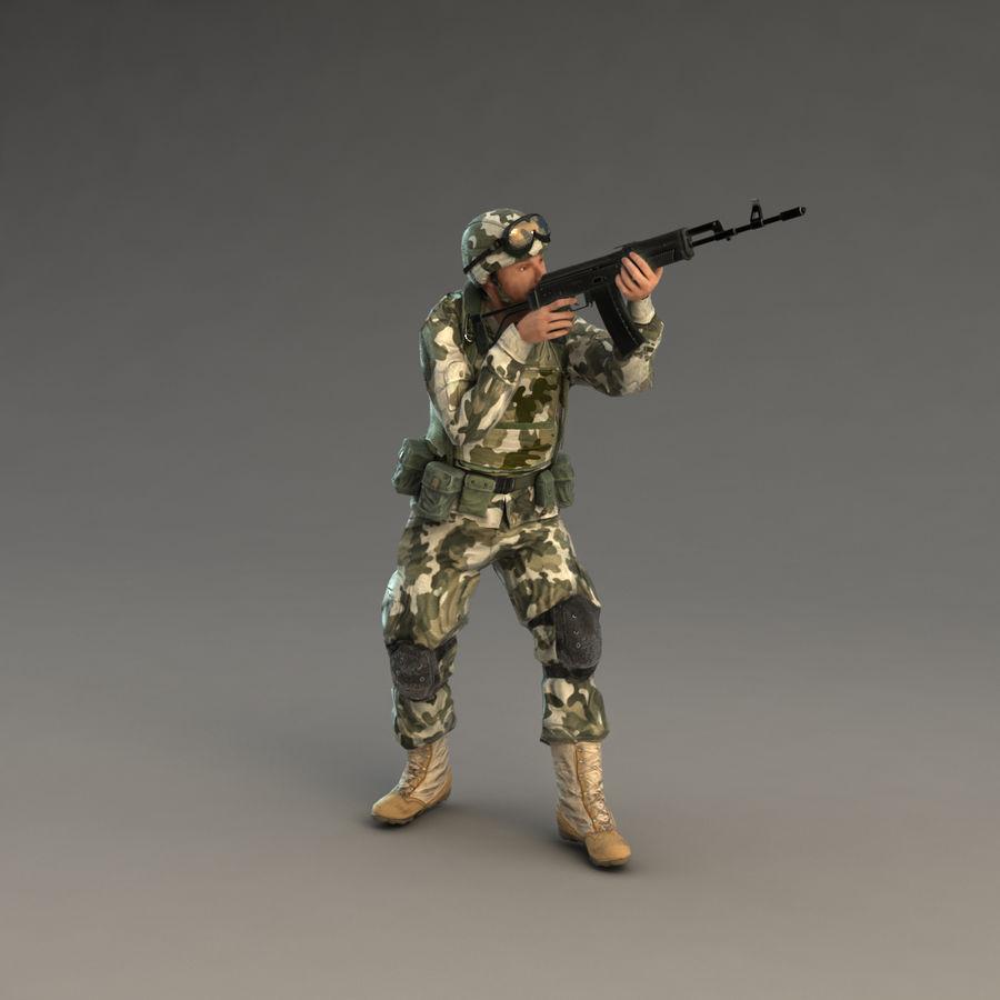 ライフルを持った兵士 royalty-free 3d model - Preview no. 17
