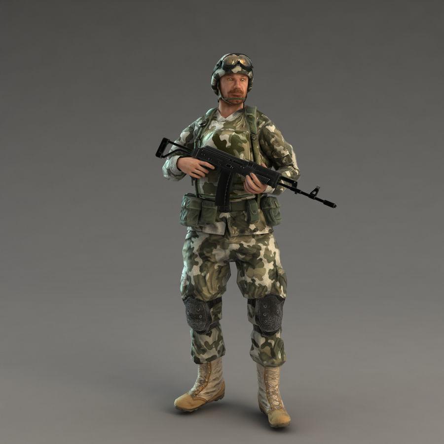 ライフルを持った兵士 royalty-free 3d model - Preview no. 14