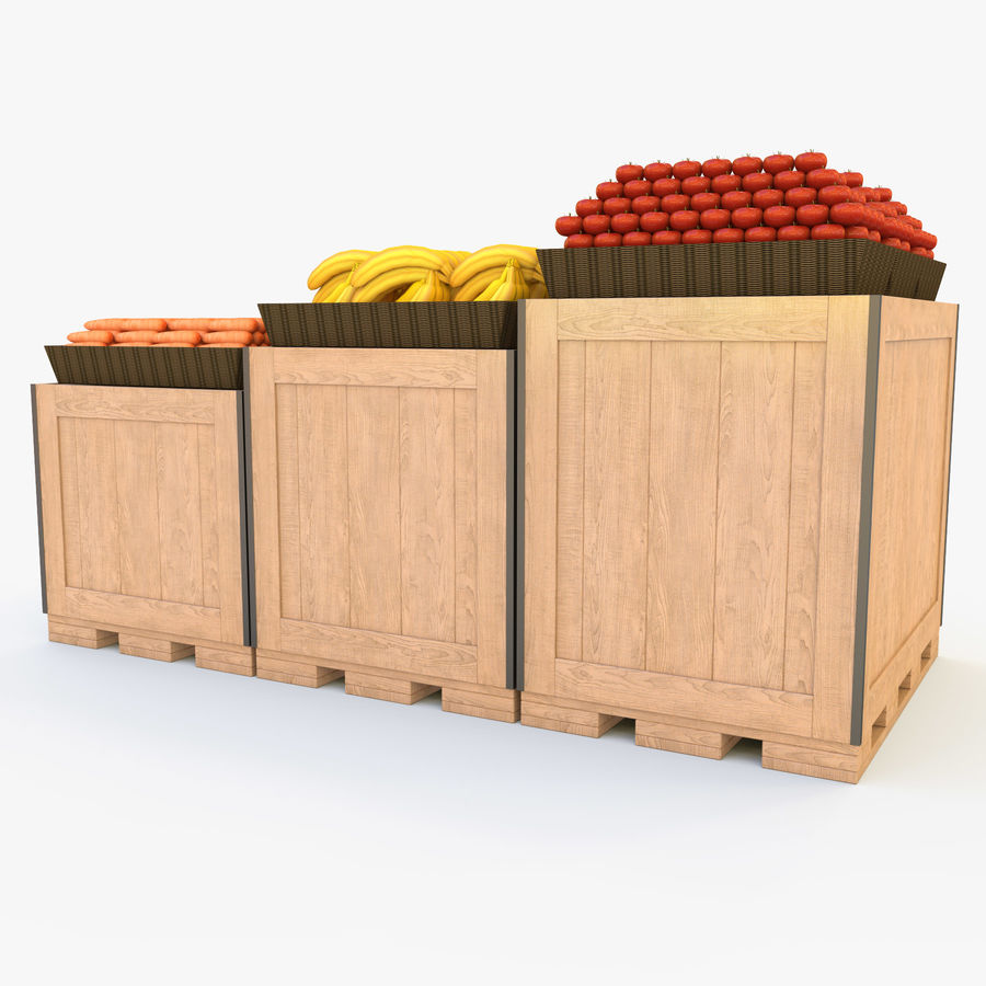 Box for egetables royalty-free 3d model - Preview no. 7