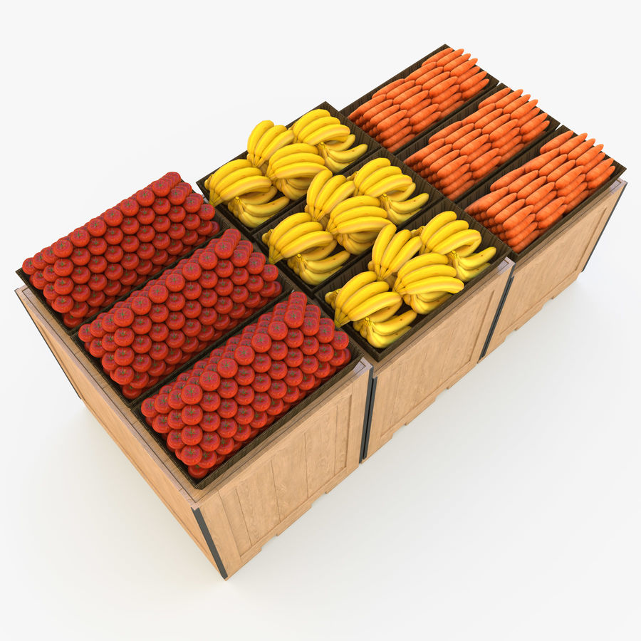 Box for egetables royalty-free 3d model - Preview no. 11