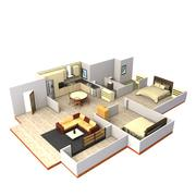 layout interno 3d model
