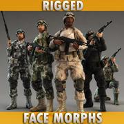 Soldier 5 type moro 3d model