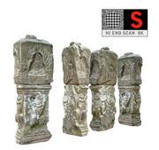Stone Column Cambodia 8K 3d model