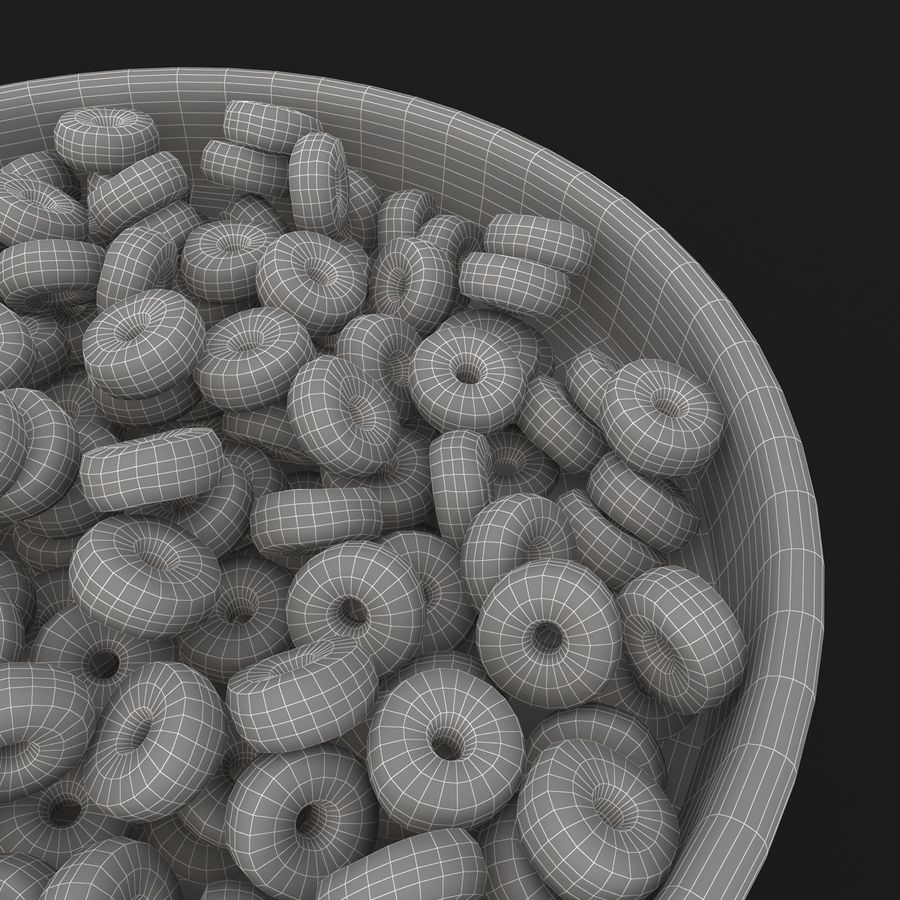 Cheerios Fruit royalty-free 3d model - Preview no. 12