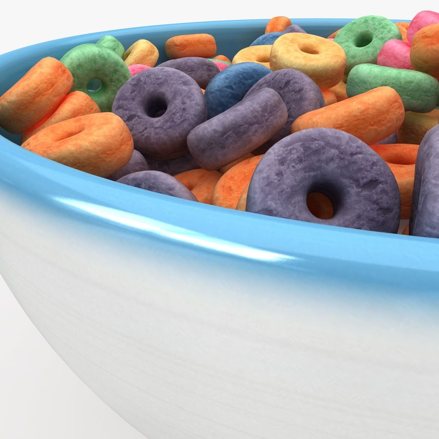 Cheerios Fruit royalty-free 3d model - Preview no. 7