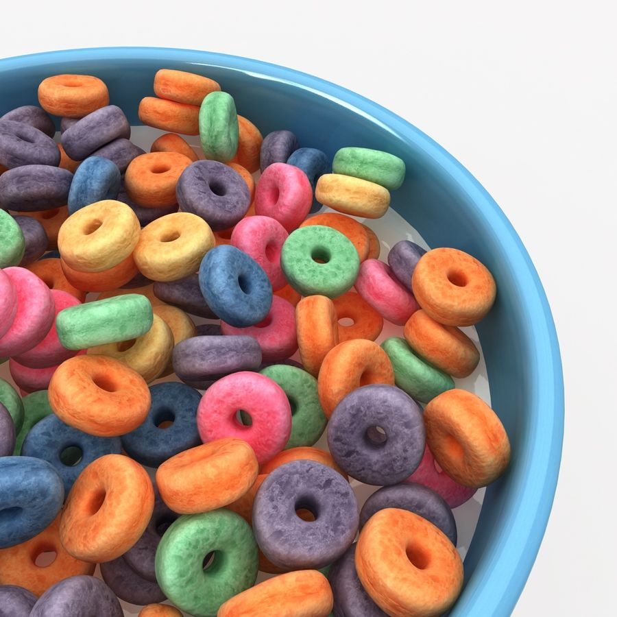 Cheerios Fruit royalty-free 3d model - Preview no. 5