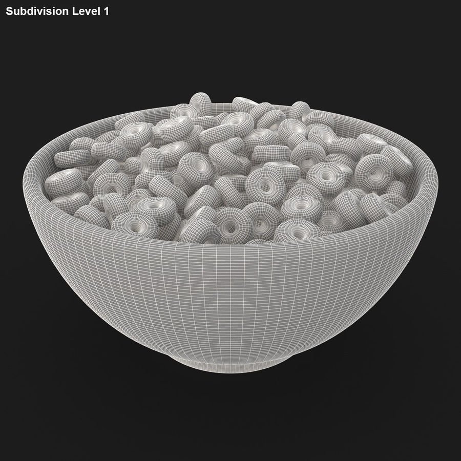 Cheerios Fruit royalty-free 3d model - Preview no. 15