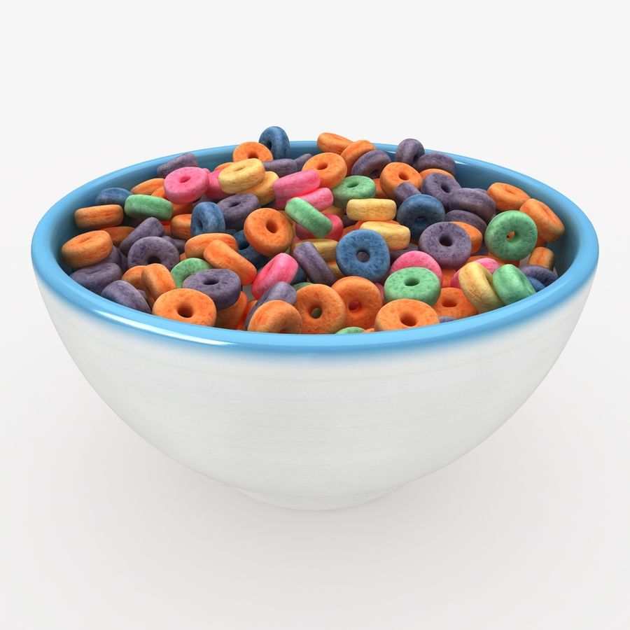 Cheerios Fruit royalty-free 3d model - Preview no. 2