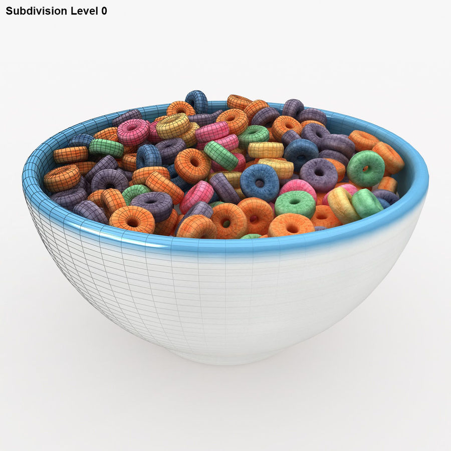 Cheerios Fruit royalty-free 3d model - Preview no. 13