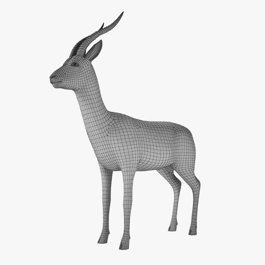 Gazelle royalty-free 3d model - Preview no. 3