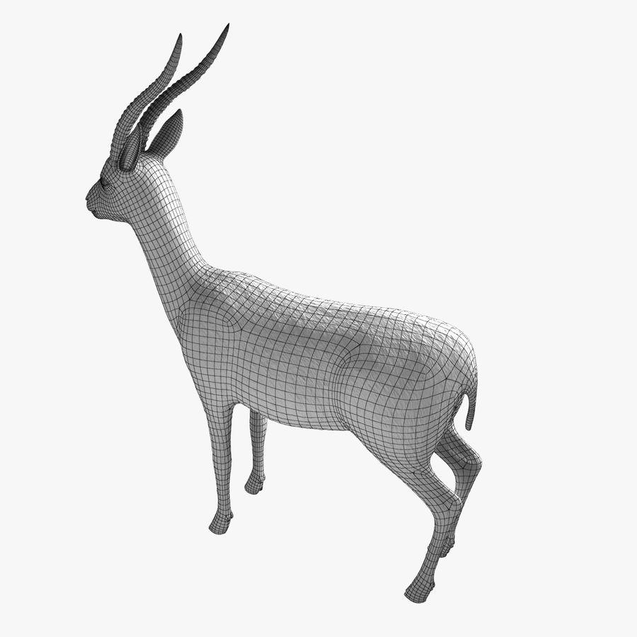 Gazelle royalty-free 3d model - Preview no. 7