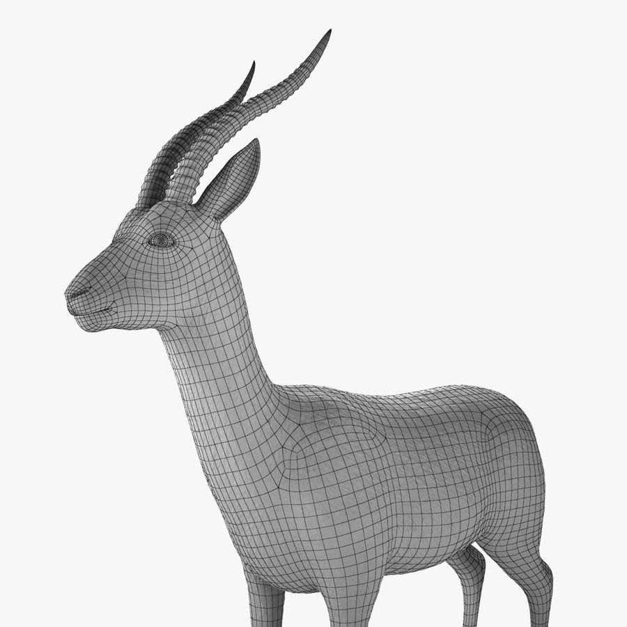 Gazelle royalty-free 3d model - Preview no. 11