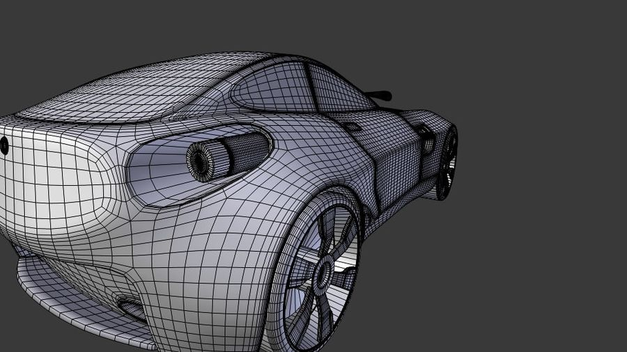 Концептуальный стиль купе 1 royalty-free 3d model - Preview no. 12
