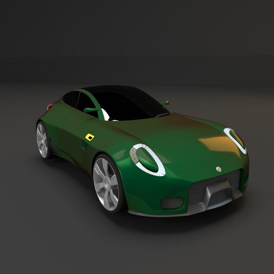 Концептуальный стиль купе 1 royalty-free 3d model - Preview no. 3