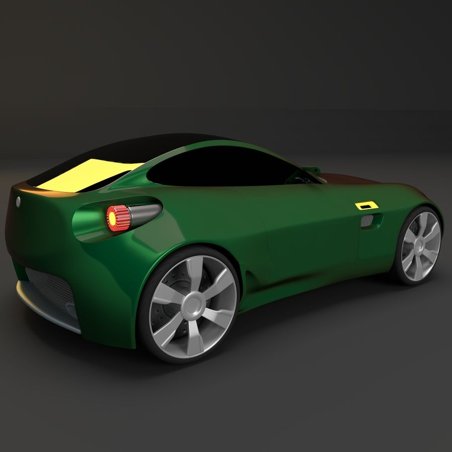 Концептуальный стиль купе 1 royalty-free 3d model - Preview no. 5
