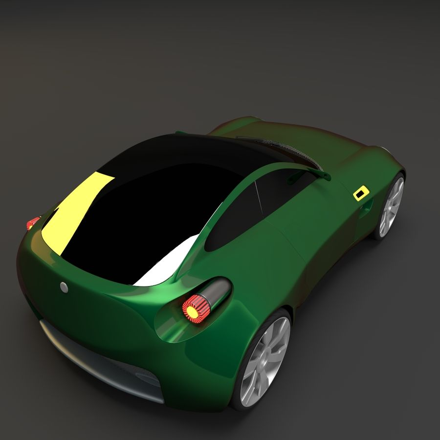 Концептуальный стиль купе 1 royalty-free 3d model - Preview no. 6