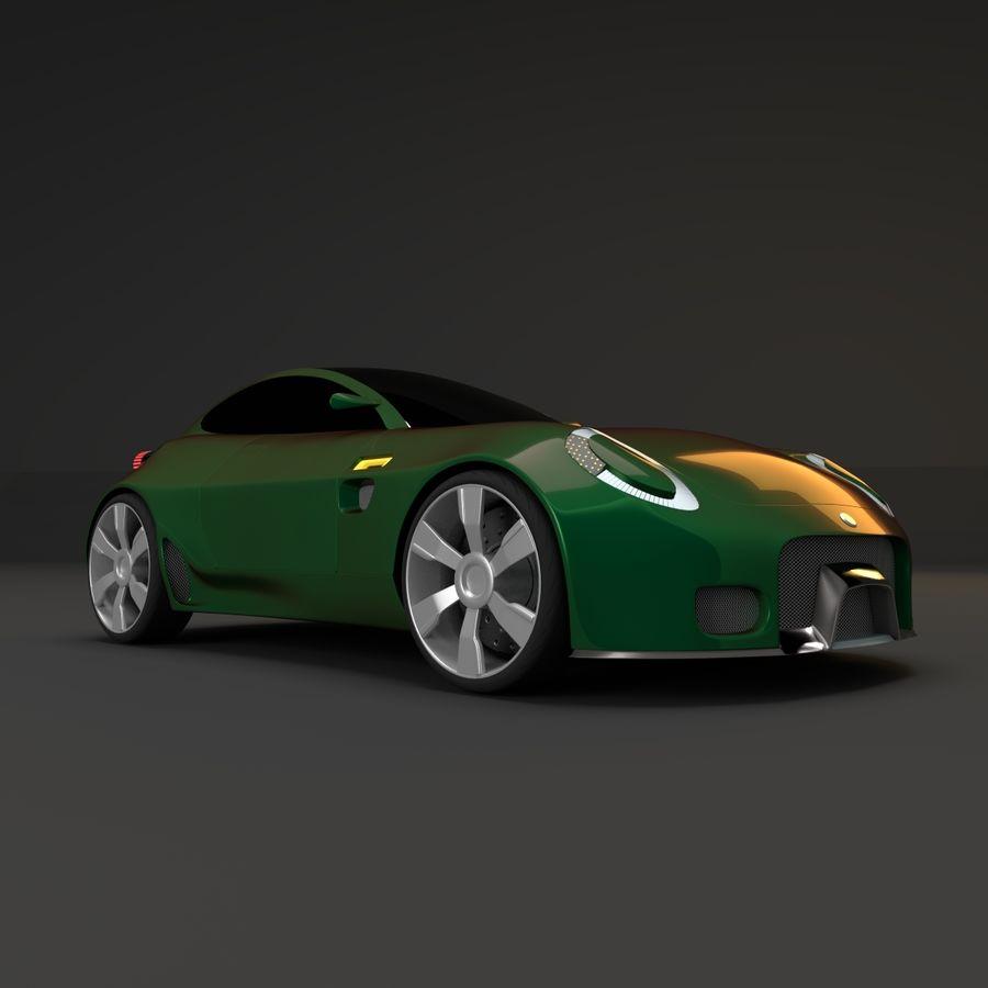 Концептуальный стиль купе 1 royalty-free 3d model - Preview no. 4