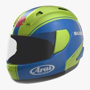 Motorcycle Helmet 2 3D Model 3d model